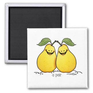 Frutas gemelas - pares perfectos imán