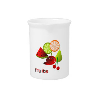 frutas jarra de beber