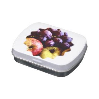 frutas latas de dulces