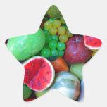 Frutas Calcomanías Forma De Estrellas Personalizadas
