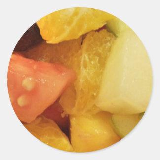 Frutas Pegatina Redonda