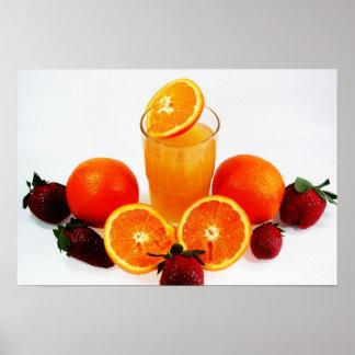 frutas póster