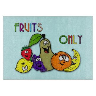 frutas solamente tablas para cortar