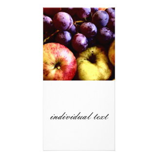 frutas plantilla para tarjeta de foto