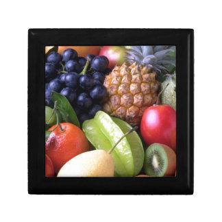 Frutas tropicales de la mezcla caja de recuerdo
