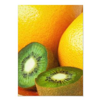 """Frutas tropicales: kiwi y pomelo invitación 5"""" x 7"""""""