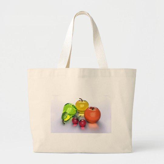 frutas vidriosas bolsa de tela grande