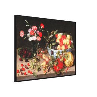 Frutas y flores coloridas de Peter Binoit Impresión En Lona
