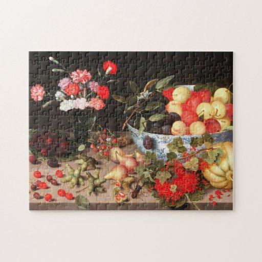 Frutas y flores coloridas de Peter Binoit Puzzles Con Fotos