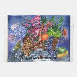 Frutas y flores plásticas toallas de cocina