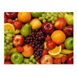 frutas y frutas postales