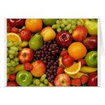 frutas y frutas tarjetón