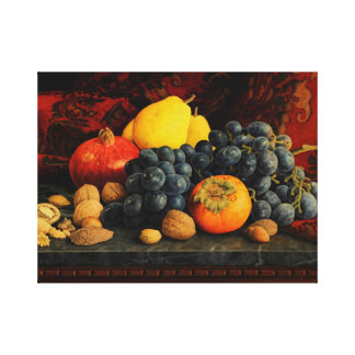Frutas y nueces lienzo envuelto para galerías