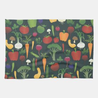Frutas y toalla de los Veggies