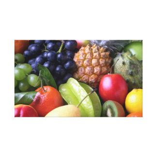 Frutas y Veggies Impresión En Lienzo