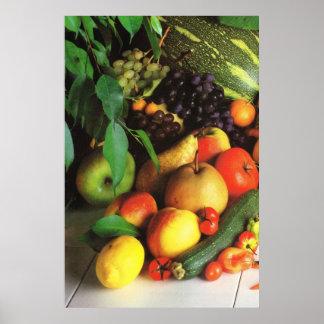 Frutas y verduras del otoño póster