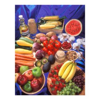 Frutas y verduras tarjeton