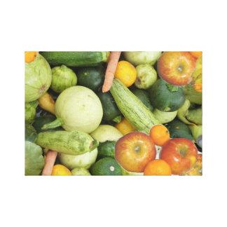 Frutas y verduras impresiones de lienzo
