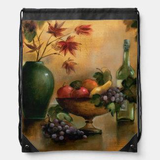 Frutas y vino con tonalidades del otoño