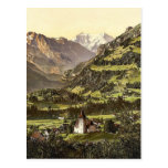 Frutigen and Balmhorn, Bernese Oberland, Switzerla Postcard
