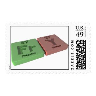 Fry as Fr Francium and Y Yttrium Postage