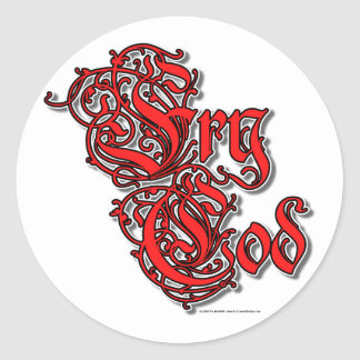 Fry Cod Classic Round Sticker