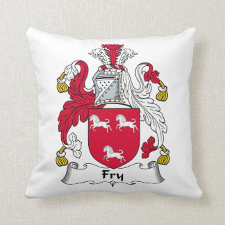 Fry Family Crest Throw Pillow