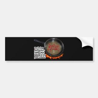 Fry psychiatry! bumper sticker
