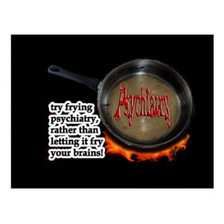 Fry psychiatry! postcard