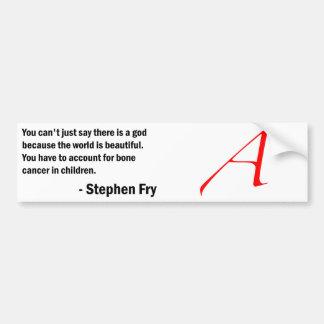 Fry Quote - Bone Cancer in Children Car Bumper Sticker