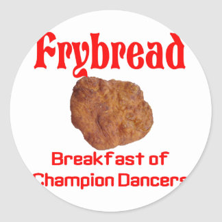 Frybread Breakfast Classic Round Sticker