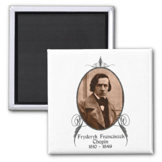 Fryderyk Chopin 2 Inch Square Magnet