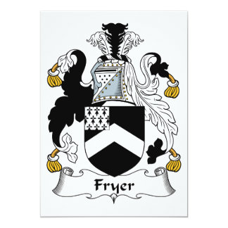 "Fryer Family Crest 5"" X 7"" Invitation Card"