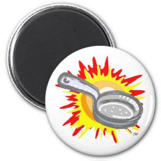 Frying Pan Gurl Frying Pan 2 Inch Round Magnet