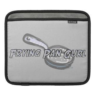 Frying Pan Gurl Logo iPad Sleeve