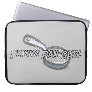 Frying Pan Gurl Logo Laptop Sleeve