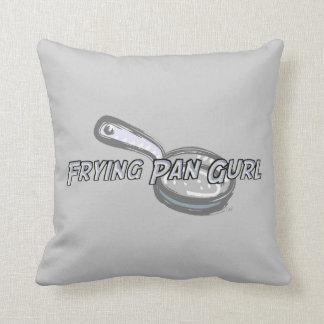 Frying Pan Gurl Logo Throw Pillow