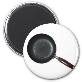 Frying pan with cooking oil 2 inch round magnet