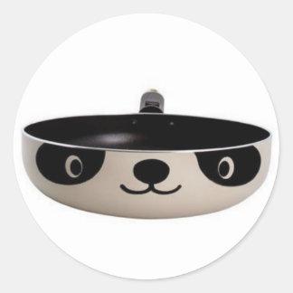 Frying Panda Classic Round Sticker