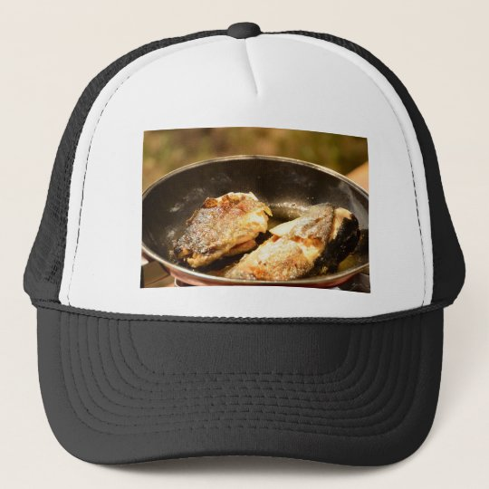 Frying Trout Trucker Hat
