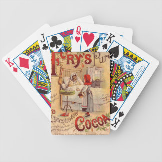 Frys Coco Vintage Advert Bicycle Playing Cards