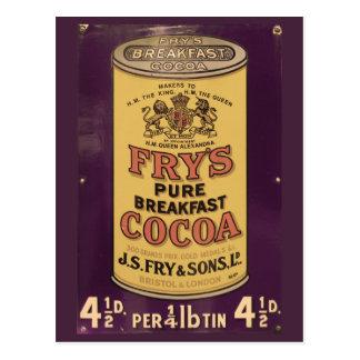 Fry's Cocoa Vintage Ad Postcard