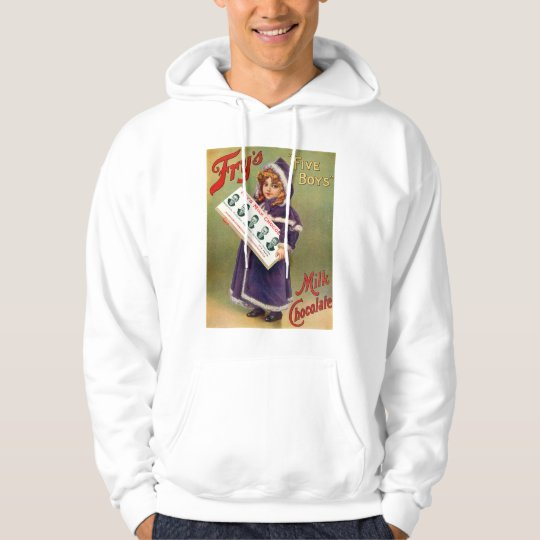Fry's Five Boys Milk Chocolate Vintage Poster Hoodie
