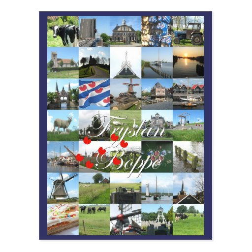 Fryslân Boppe Friesland Photo Postcard Kaart