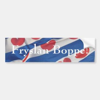 Fryslan Boppe Frisian Flag Bumper Sicker Friesland Bumper Sticker