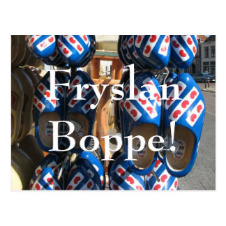 Fryslan Boppe! Klompen Clogs Photo Postcard