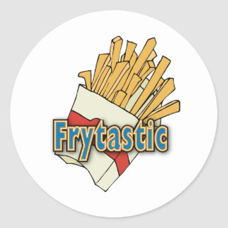 Frytastic ~ French Fries Fantastic Junk Foods Classic Round Sticker