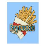 Frytastic ~ French Fries Fantastic Junk Foods Postcard