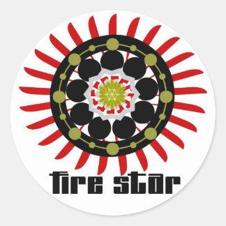 FS sticker-Sun Rise(red) Classic Round Sticker