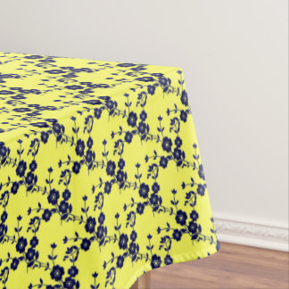 FS Style1 Blue-Yellow Dark-52x70 COTTON TABLECLOTH